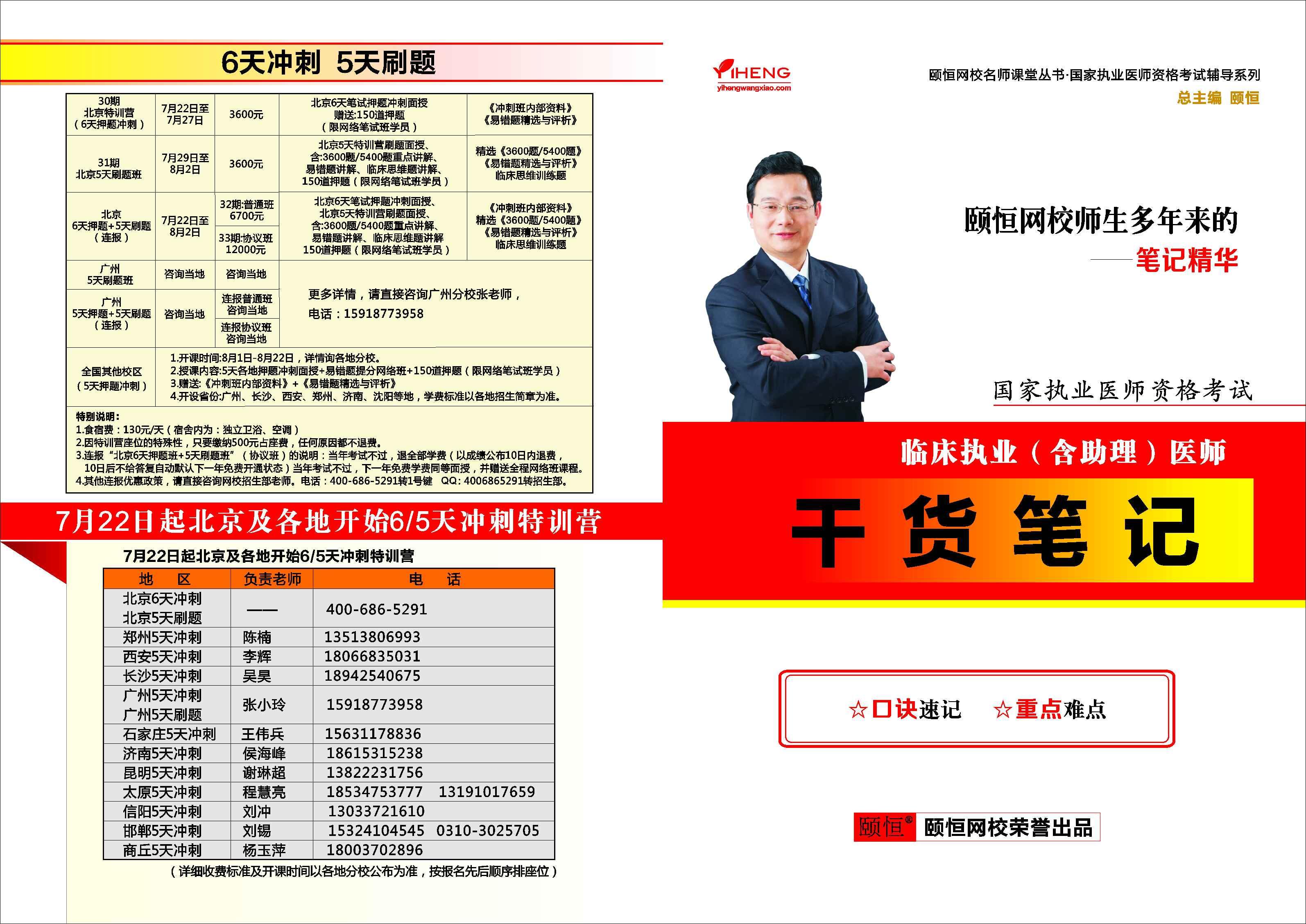 干货笔记(临床执业/助理通用)